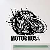 ASFGA Extreme sports competition freestyle graffiti off-road motorcycle logo wall sticker vinyl home...