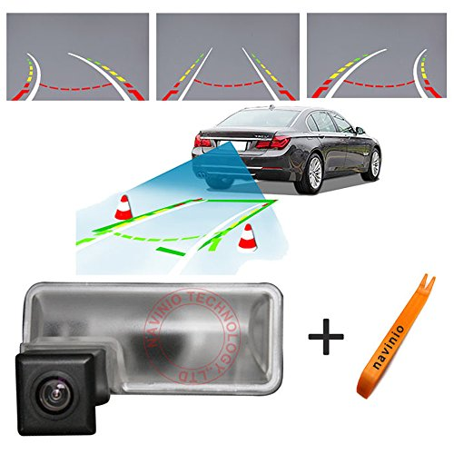 Dynavsal Auto Parking Asistencia 170 grados HD CCD inteligente trayectoria de reversión Tracks Cámara de visión trasera cámara de copia de seguridad inversa para Subaru impreza wrx gh2 gh3 gh6 7 8 GRB GRF GJ2 3
