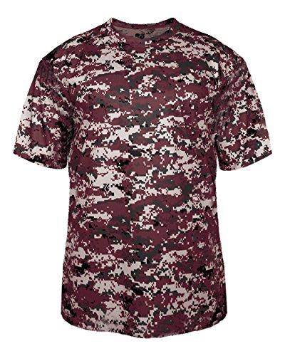 Badger Sport Adult 3XL Maroon Digi-Camo Moisture Wicking Jersey Uniform Shirt