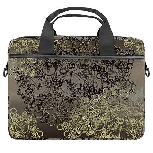 TIZORAX Laptop-Tasche Steampunk Notebook Sleeve mit Griff 38,1 - 39,1 cm Tragetasche Schultertasche Aktentasche