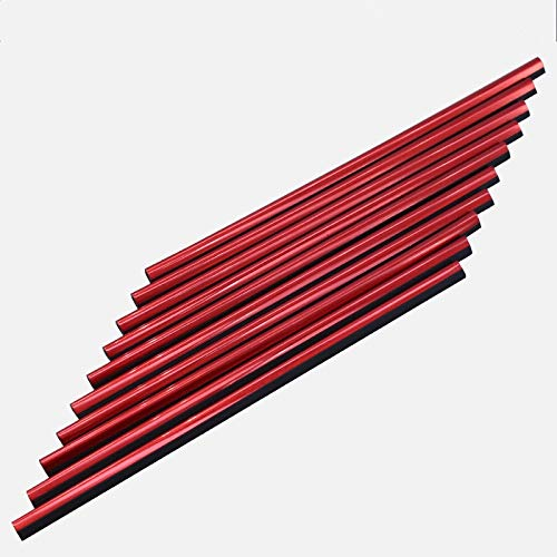 XUAILI auto-interieursticker, stijlvolle kwaliteit auto-interieurstrips, decoratieve airconditioning, Outlet U-vormige heldere strepen, 10 stuks rood