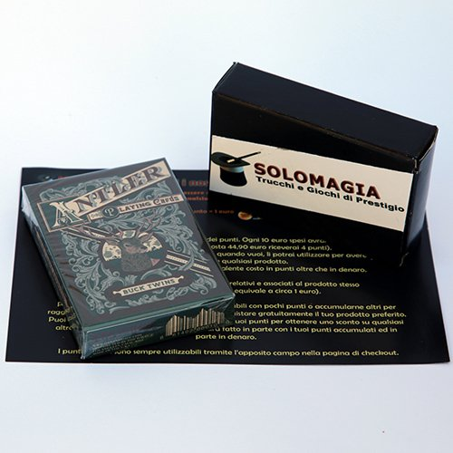 SOLOMAGIA Antler Playing Cards (Green) by Dan and Dave - Tarjeta Juegos - Trucos Magia y la Magia