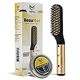 Beard Straightener for Men, Multifunctional Hair Styler Electric Hot Comb and Beard Straightening...