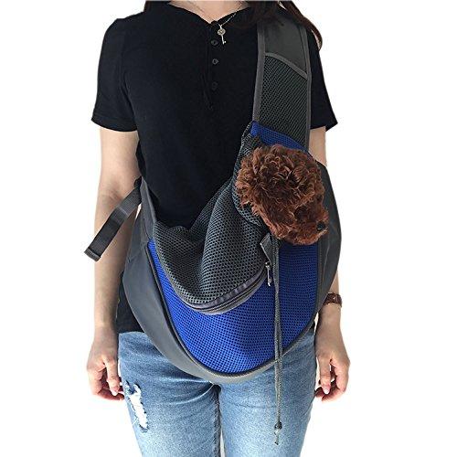 Wiiguda@Schlinge tragbare Haustier Tasche Verstellbare Single-Schulter Tasche für Hunde Katzen Reisetasche Hand-befreit mit extraer Tasche für Haustier S (bis 2,5kg)