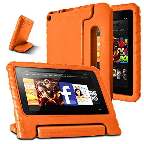 AFUNTA F i r e 7 2015 Caso, Peso Leggero Shock Proof Supporto Cabrio Maniglia EVA Custodia Protettiva per A m z o n F i r e Tablet da 7 Pollici Display (5ª generazione - modello 2015) -Orange