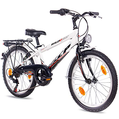 KCP 20 Zoll City Bike Kinderfahrrad - Wild Cat - Kinder Fahrrad für Jungen und Mädchen mit 6 Gang Shimano Schaltung - für Kinder zwischen 6-9 Jahre und 1,15-1,45m Körpergröße