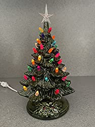 this is an 11 inch glossy green ceramic christmas tree that has been molded in a vintage style by suesuesue crafts after molding it was cleaned and fired - Christmas Tree Lights Amazon