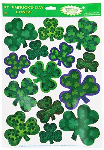 Irish-Mood Shamrock Clings Party Accessory (1 count) (14/Sh)