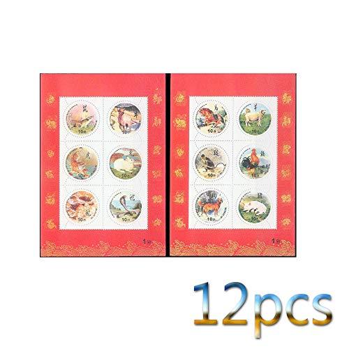 Zodiac,Stempel,Die Vereinigten Staaten,Thailand,Andreas,1997,Briefmarkensammeln,Sammlung,Neu,Schön,Hund,Drachen,Denkmal Metall/D/Quadrat