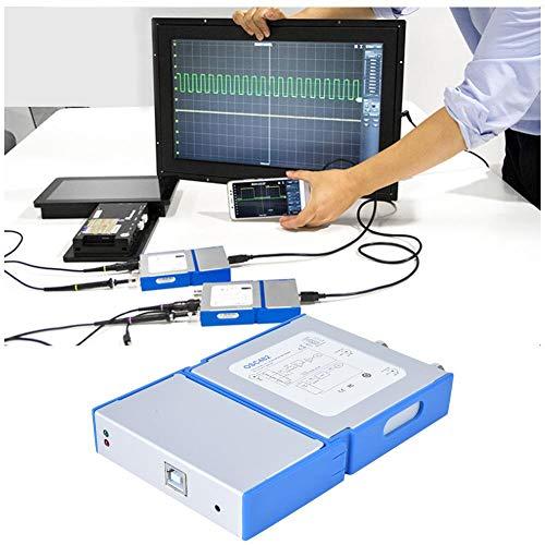 Osciloscopio Virtual portátil, Ancho de Banda de 20MHz OSC482L USB PC Osciloscopio Virtual con analizador lógico de 4 Canales