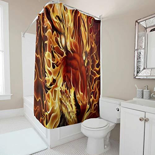 CHSYT Tiger Lion dier Golden douchegordijn badkamer binnen bloemig design polyester liner waterdicht vrouwen decor hotel slaapkamer