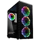 KOLINK Observatory Lite Mesh Midi Tower PC Gehäuse ATX RGB PC-Gehäuse, Gaming PC Hülle, Tempered Glass Computergehäuse, Gaming Tower, PC Hülle mit Lüfter, Computer Gehäuse Gaming