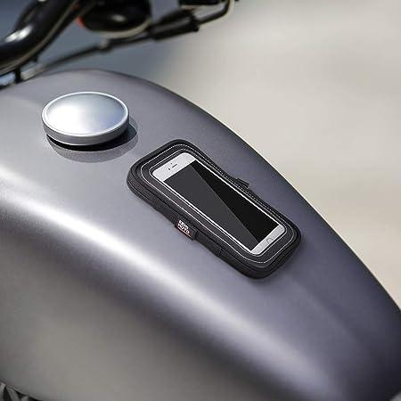 kemimoto タンクバッグ バイク用 スマホ マグネット磁石 タンクバック タッチパネル対応 携帯ポーチ カード入れ iPhone/Android用 鉄質タンクに汎用