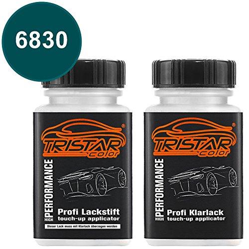TRISTARcolor Autolack Lackstift Set für Mercedes/Daimler Benz 6830 Aquagrün/Aqua Green Basislack Klarlack je 50ml