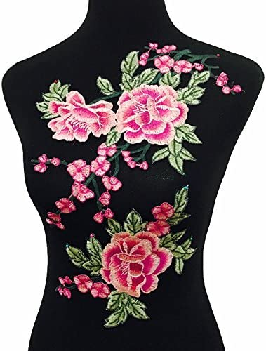 2pcs Flowers Embroidered Regular discount Patch Sticker Jacket Jeans specialty shop for Clothing