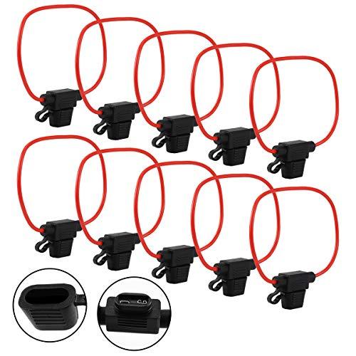 10 Stück Sicherungshalter mit Steckverbindung für Auto, Standardkabel, LKW, Halterung, Klinge, Auto, mittlere Schaltung