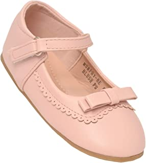 Little Girls Blush Scalloped Trim Mary Jane Shoes 5-8 Toddler