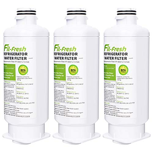 DA97-17376B, HAF-QIN/EXP Water Filters Compatible with SAMSUNG Refrigerator, 3-Pack
