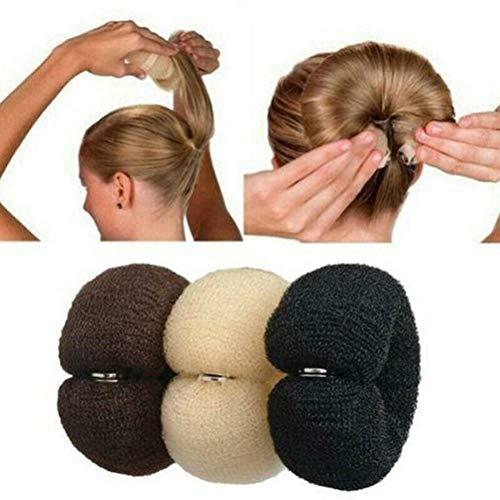 Donut Hair Bun Maker Set 3 Stück Haarstyling Frisurenhilfe Set Haarschmuck Haarkissen Donut Rolle Knotenpolster Haarknoten für Kinder Mädchen Frauen