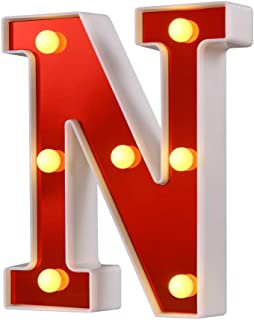 letter n red