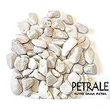 ciottoli in marmo bianco di carrara Ø 15/25 mm sacco da 25 kg per vasi