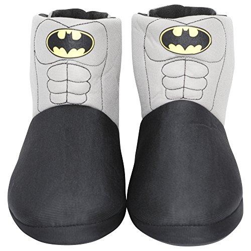 Mens/Boys Batman Novelty Slipper Boots Kids Shoe Sizes 1-6 Adults Sizes 7-12 (7-8 UK) Black Grey