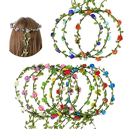Capelli Ghirlanda di Fiori,Coroncina Fiori per Capelli,Corona di Fiori per Capelli Sposa,Corona di Fiori Per capelli Matrimonio,Fiori Corona Fascia(10 Pezzi )