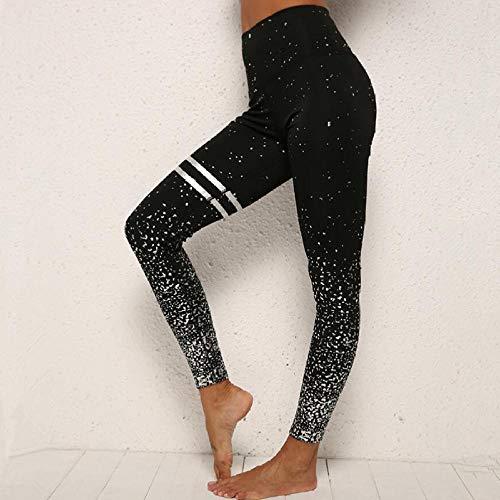 Zwarte yogabroek, sneldrogende panty, hardlooplegging met hoge taille, legging, training push-up legging