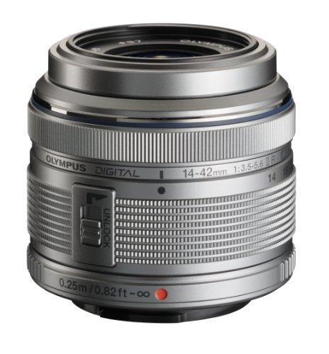Olympus M.Zuiko Digital 14-42mm F3.5-5.6 II R Lens, for Micro Four Thirds Cameras (Silver)