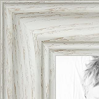 ArtToFrames 11x14 inch Off White Wash on Ash Wood Picture Frame, WOM0151-59504-475-11x14