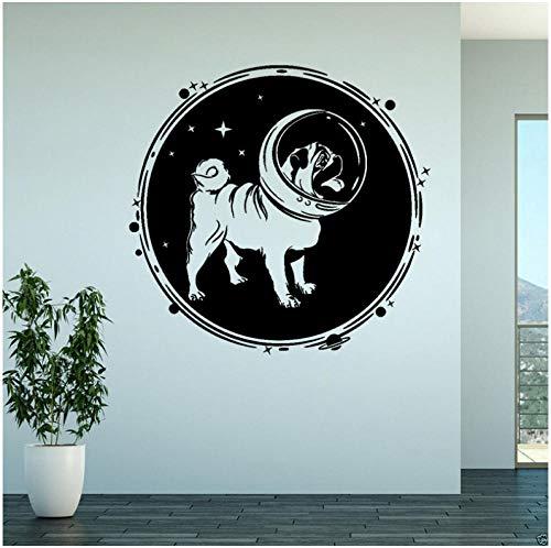Wandaufkleber PVC Vinyl Kunstwand 58 CM * 55,4 CM hund astronaut mond Schlafzimmer Küche Futter zimmer Home kinderzimmer Restaurant