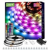 Lepro LED Strip 20M (2x10M), LED Streifen Lichterkette mit Fernbedienung, Band Lichter, RGB Dimmbar Lichtleiste Light, Lichtband Leiste, Bunt Kette...