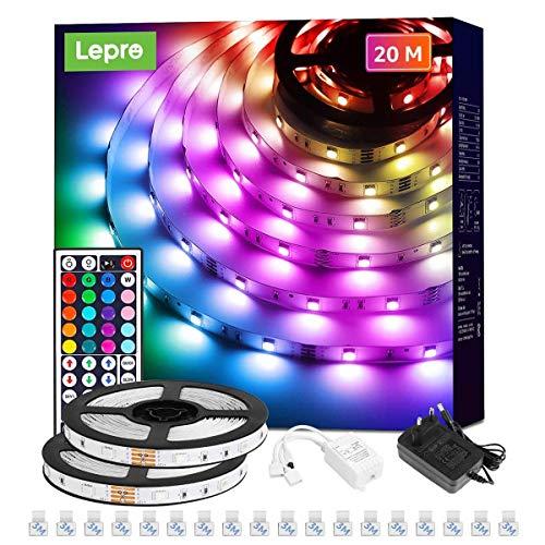 Lepro LED Strip, LED Streifen Lichterkette mit Fernbedienung, Band Lichter, RGB Dimmbar Lichtleiste Light, Lichtband Leiste, Bunt Kette Stripe für Party Weihnachten Deko