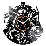 EVEVO Avengers Wanduhr Vinyl Schallplatte Retro-Uhr groß Uhren Style Raum Home Dekorationen Tolles...