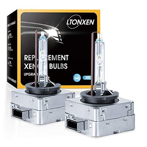 Bombilla Xenón D1S HID 6000K 12V 35W Faros Delanteros de Coche para Brillante Blanco Luz Lámpara Kit de Repuesto(2 piezas) 🔥