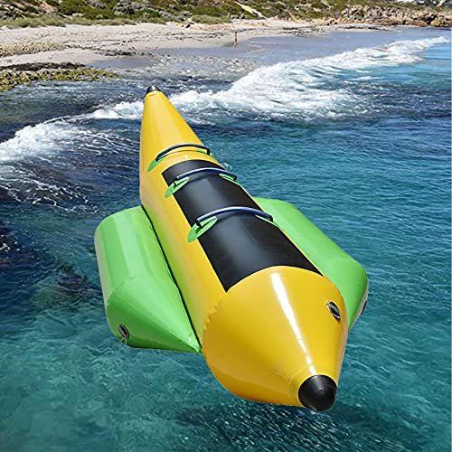 FHW Barco Banana AcuáTico, Barco AcuáTico Inflable, Kayak con Bomba De Aire, Juguetes De Rafting para Adultos Y NiñOs,C