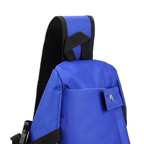 Okuyonic Bolsa de Fitness Mochila de Yoga Duradera para Deportes con Correas de Hombro(Blue)