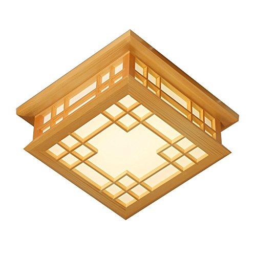 zhangrong-alta qualité - lumière de plafond, encastré LED Patch carré de bois d'Art chaud lumière 12 W 4 modes sont opcionales – -efficiency : A + + + C