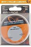 Savage Gear Stahlvorfach 49-fädig 10m + 20 Klemmhülsen, Vorfach zum Hechtangeln, Stahlvorfächer...