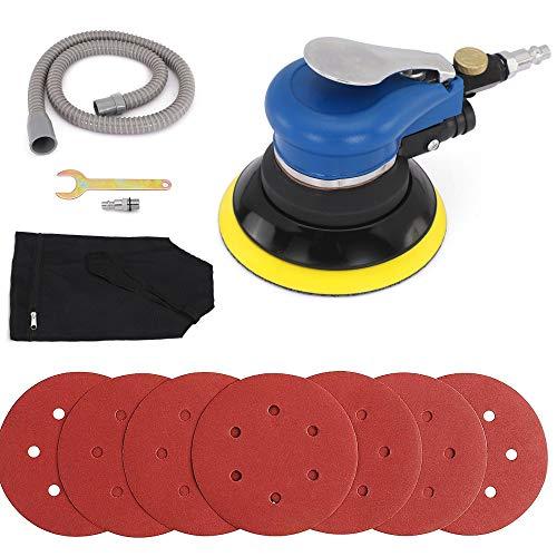 Autolock Lijadora orbital de aire aleatorio de 6 pulgadas Lijadora de aire de doble acción profesional con ajuste de velocidad 10000 RPM Recolección de polvo