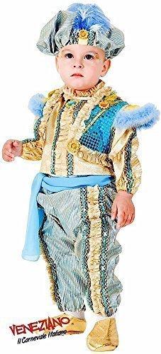 Fancy Me Deluxe Italienischer 6 Stück Baby Kleinkind Jungen Arabian Genie Östliche Prinz Around The World Verkleidung Kostüm Kleidung 0-36 Monate - 2 Years