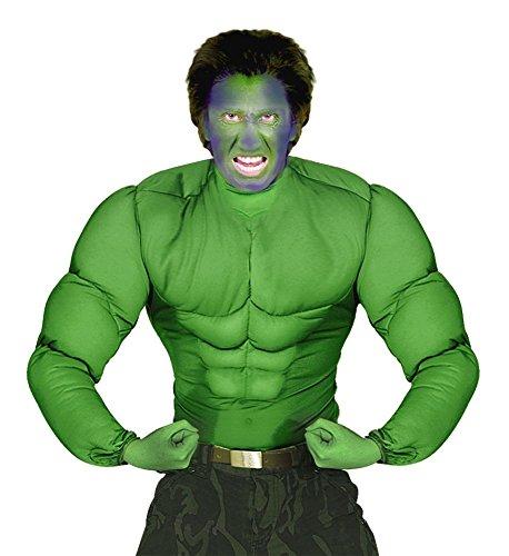 shoperama Hulk muskulöser Oberkörper Grün Herren-Kostüm Sixpack Muskeln Muckies Fatsuit Kostüm-Zubehör Comic, Größe:XL