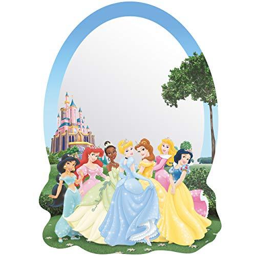 alles-meine.de GmbH Kinder Wandspiegel - Acryl Spiegel - bruchsicher unzerbrechlich - Disney Princess - Prinzessin - selbstklebend & wiederverwendbar - Plexiglas - 23 cm - Wandst..