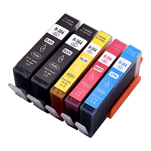 Aibecy Cartuchos de tinta de repuesto para HP 364XL 364 XL HP Photosmart 5388 5510 5522 7510 7520 B8550 B8553 B8558 C309 C309a HP Officejet 4610 4620 4622 HP Deskjet 307 0A 352 0 3522 4622 Impresora