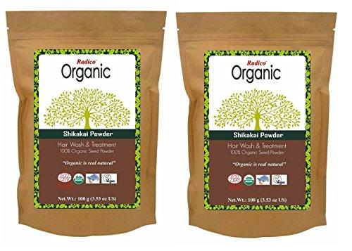 radico shik akei Semillas de polvo 2unidades) (2x 100g) Acacia Concinna (bio, Vegan) X2