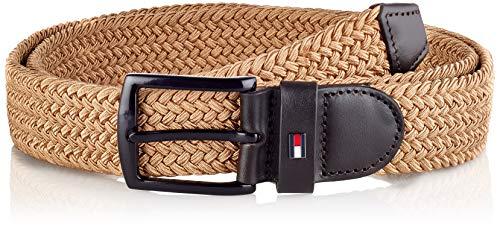 Tommy Hilfiger Denton Elastic 3.5, Cinturón Hombre, Caqui Clásico, 90 cm