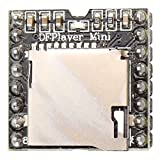 HALJIA DFPlayer - Mini reproductor de mp3 DAC de 24 bits, salida directamente, conectar a altavoces, soporta tarjeta TF, Compatible con Arduino Raspberry Pi