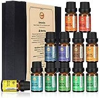 ANEAR Essential Oils Set, 12 x 10 mL Aromatherapy Oils Set, Tea Tree, Lemongrass, Pure Lavender, Eucalyptus, Sweet...