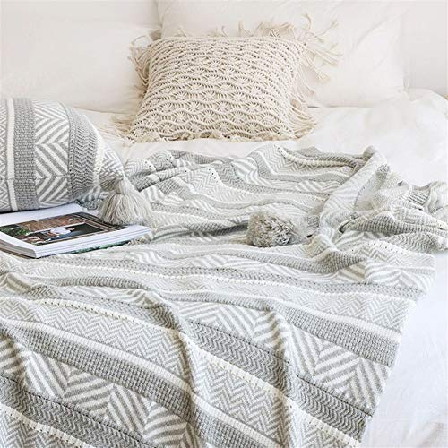 LOOEST Suave Multifunción Throw Decorativo Manta del sofá de la Toalla de algodón Caliente Funda Casa Dormitorio (Color : Blanket)