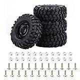 OhhGo 4 unids/set 1:10 neumáticos neumáticos de goma para Rock Crawler Off-road RC Control remoto parte del coche